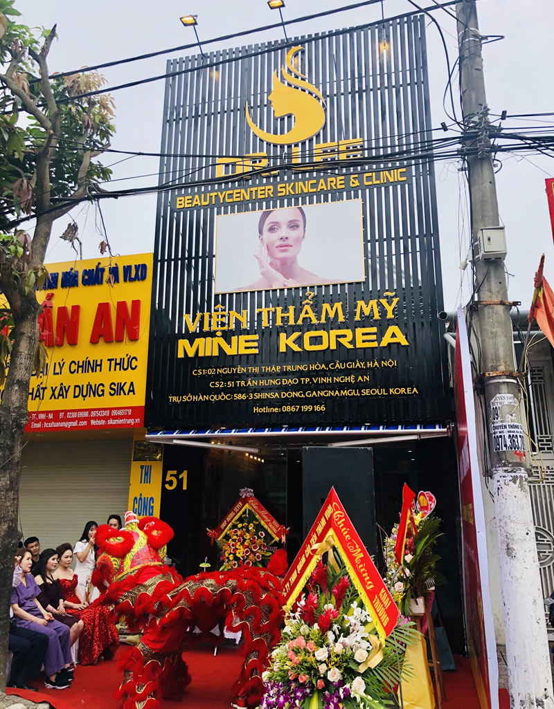 Khai trương thẩm mỹ viện Mine Korea